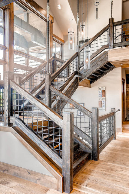 373 Timber Trail Road Staircase Rustic