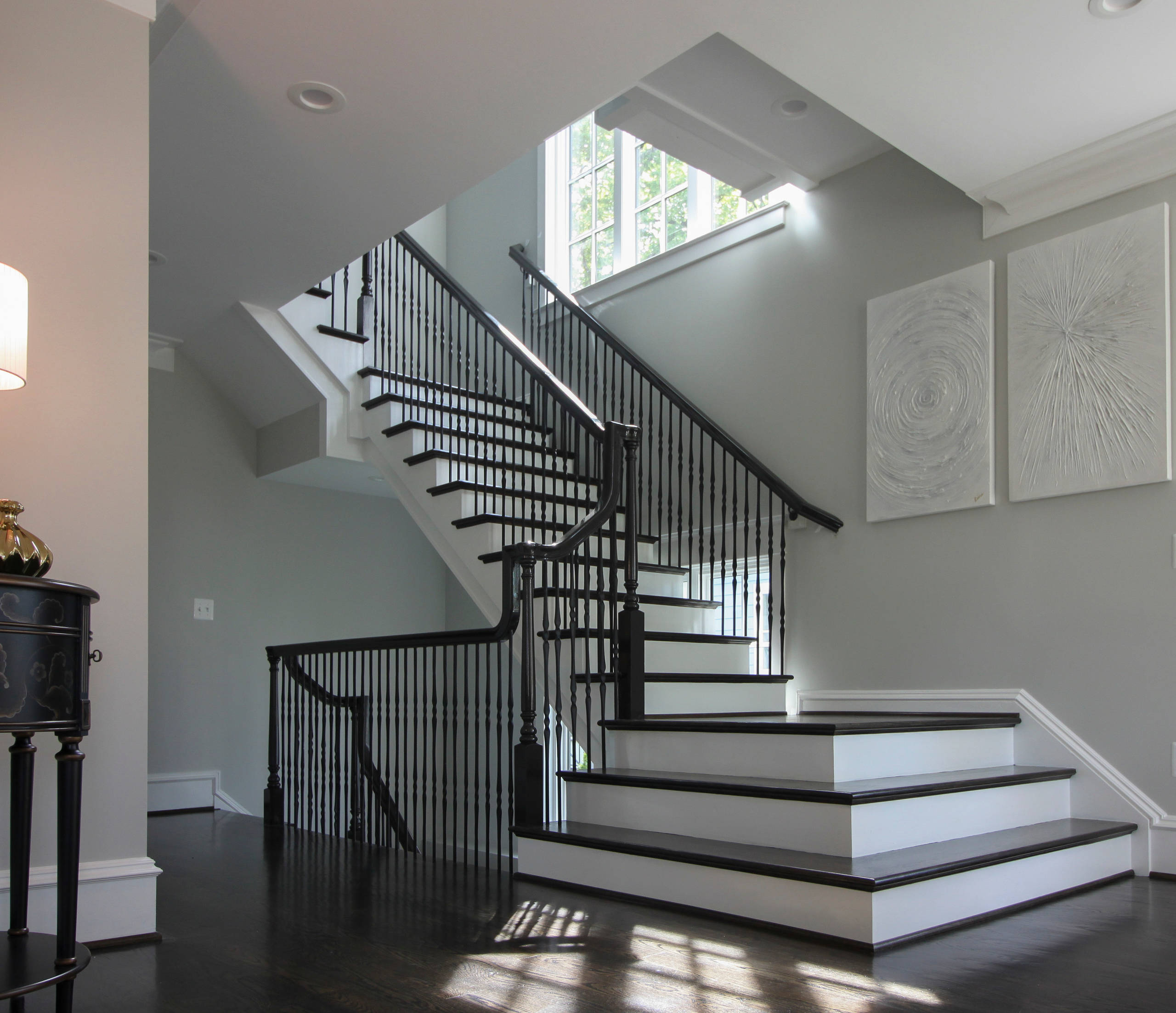 41_Dramatic Semi-Floating Staircase for Top D.C. Area Builder, Arlington VA 2220