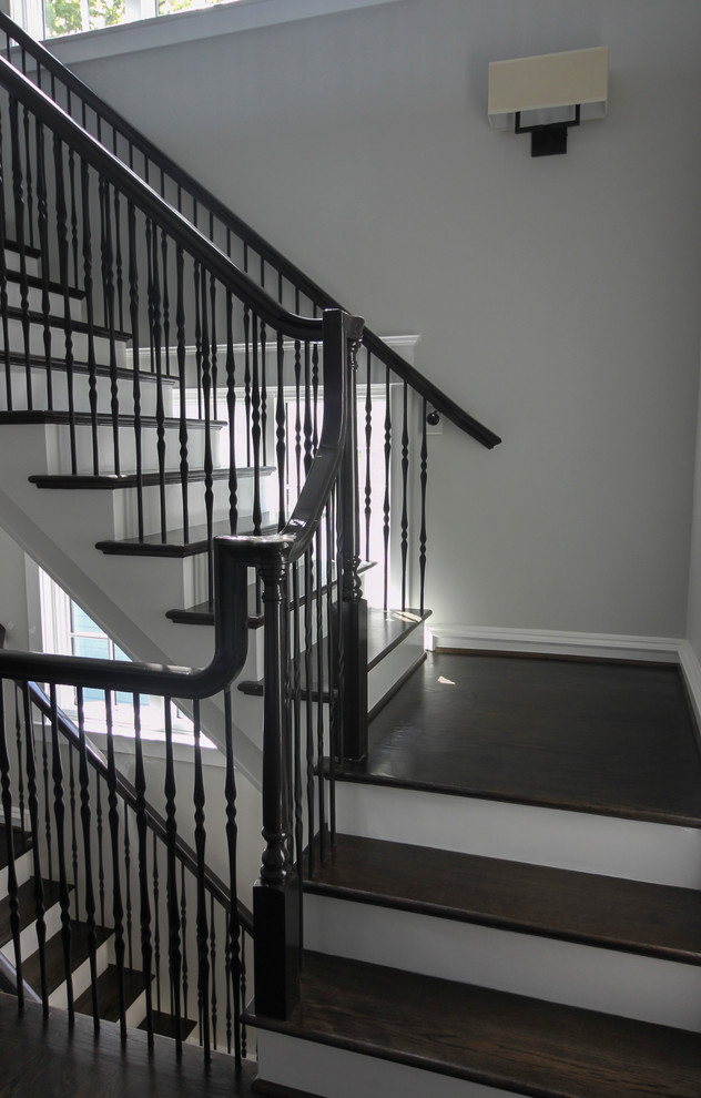 41 Dramatic Semi Floating Staircase For Top D C Area Builder Arlington Va 2220 Transitional Staircase Dc Metro By Century Stair Company