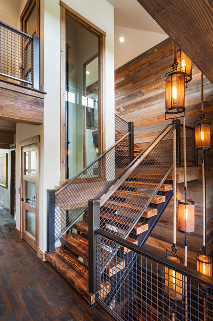 422 Timber Trail Staircase Rustic Staircase Denver