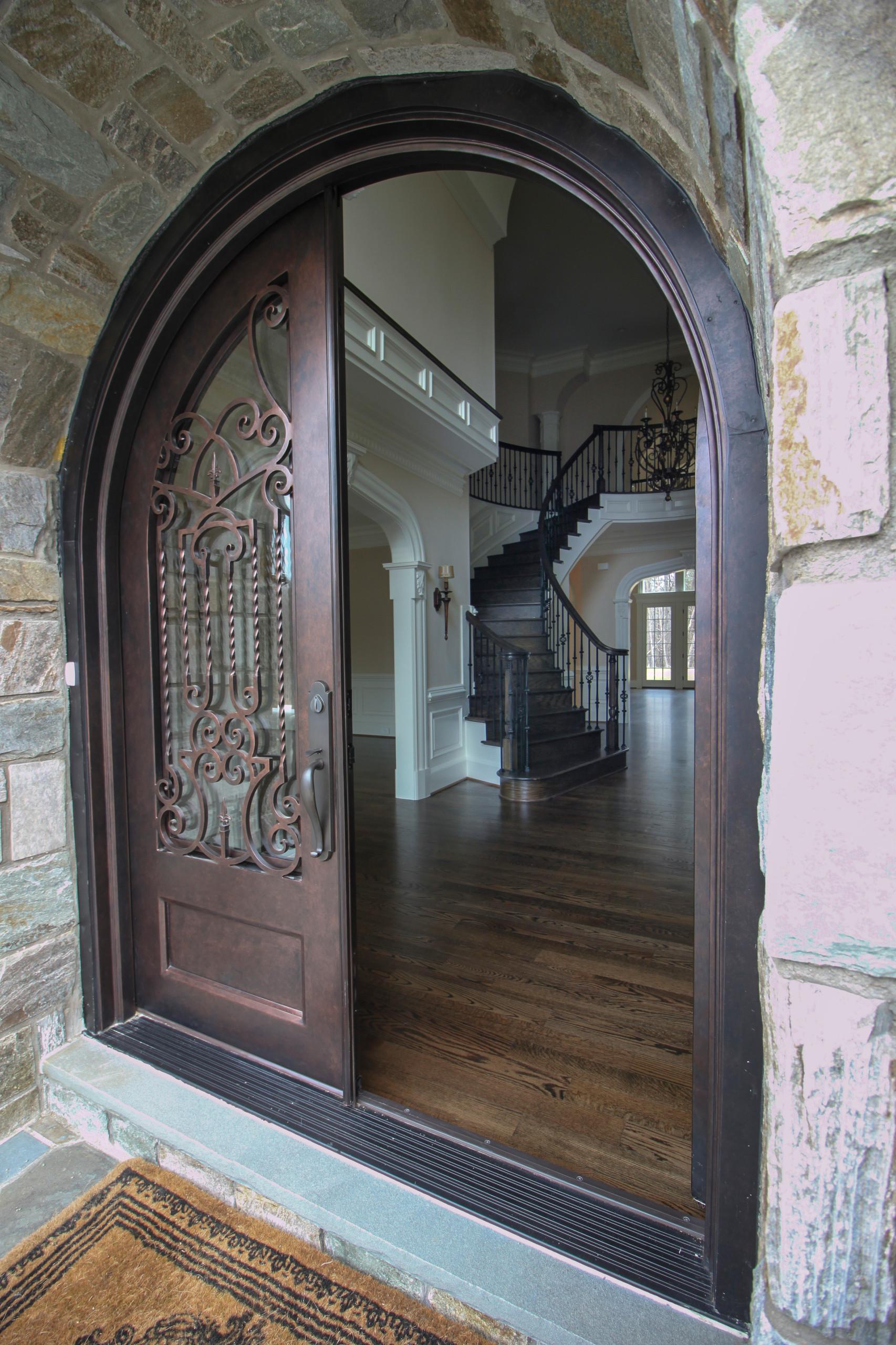 45_Inspiring Oak & Wrought Iron Balustrade in Stunning Residence, Mclean VA 2210