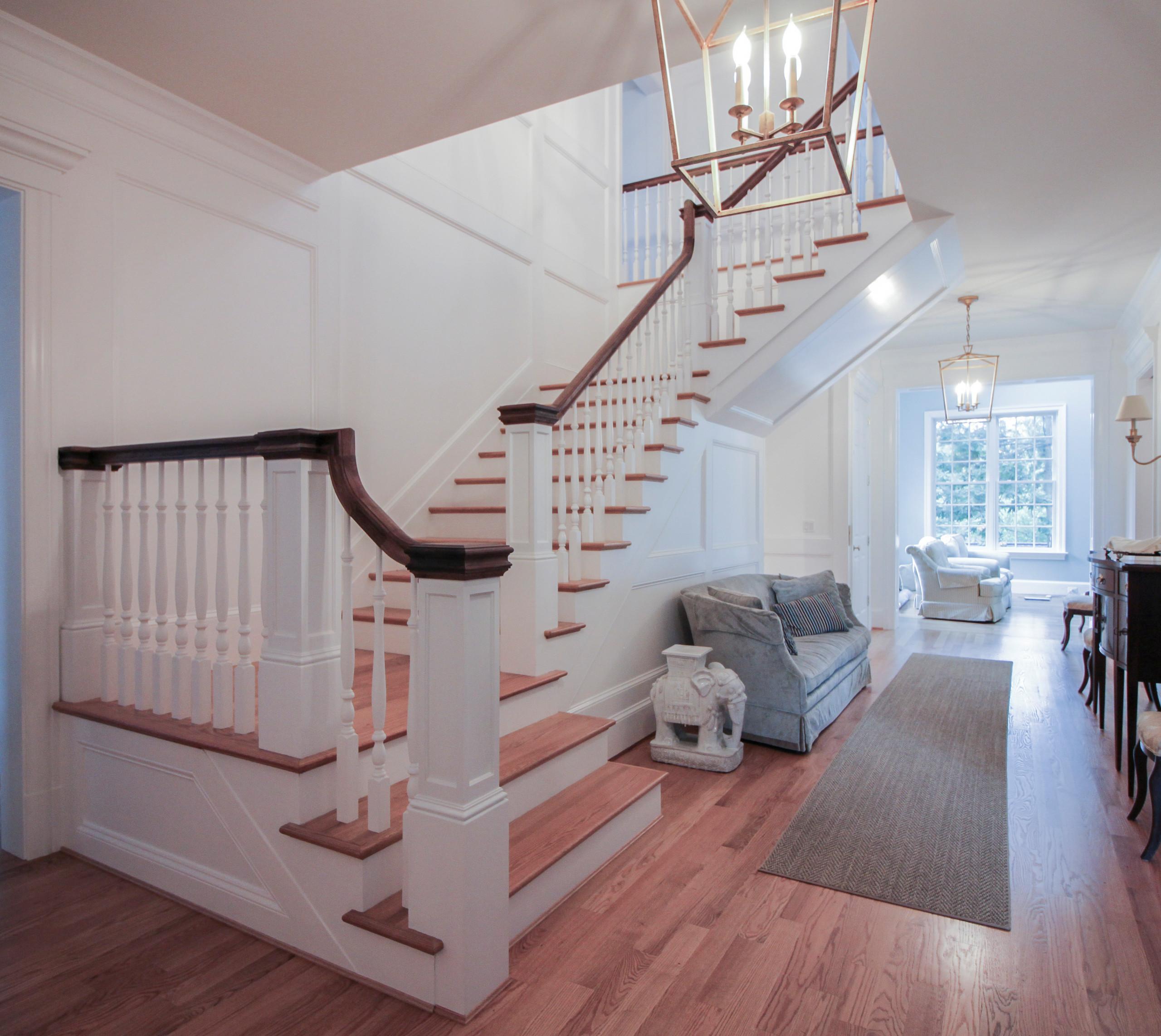56_Elegant Wall-Mounted Craftsman Style Staircase, Arlington VA 22205