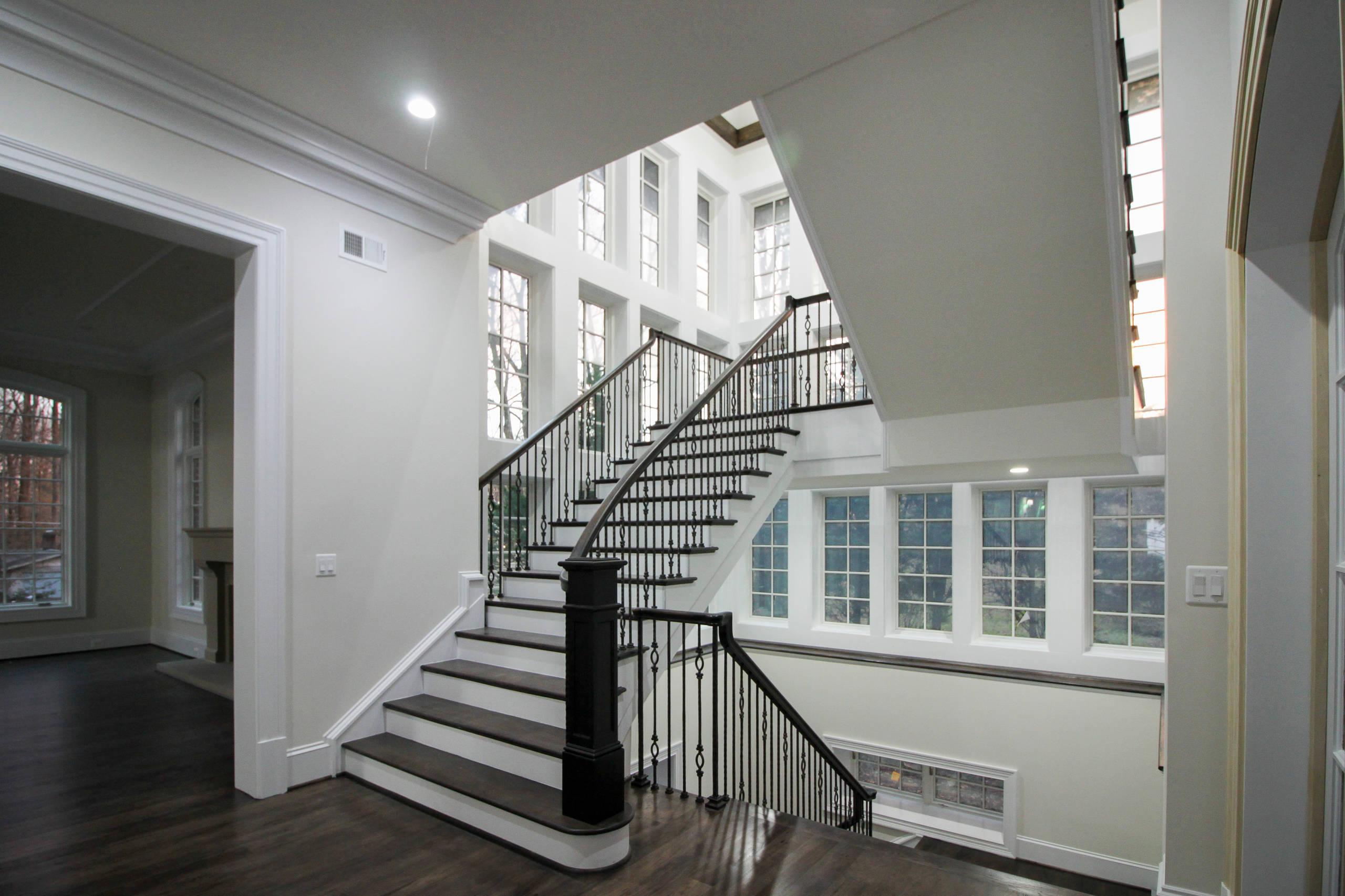 64_Freestanding Mezzanine Staircase, McLean VA 22101
