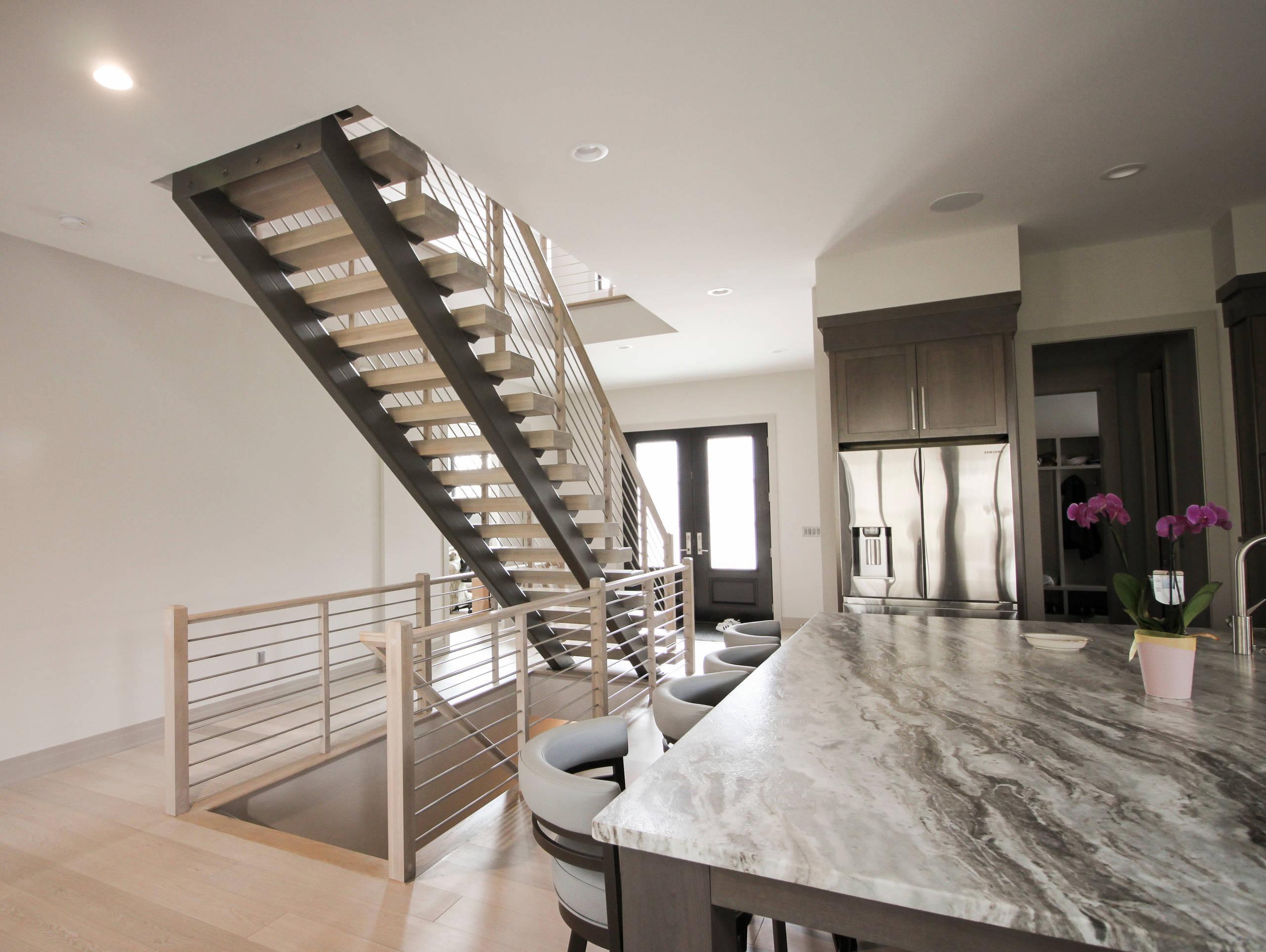66_Eye-catching and Stylish Modern Staircase, Vienna VA 22180
