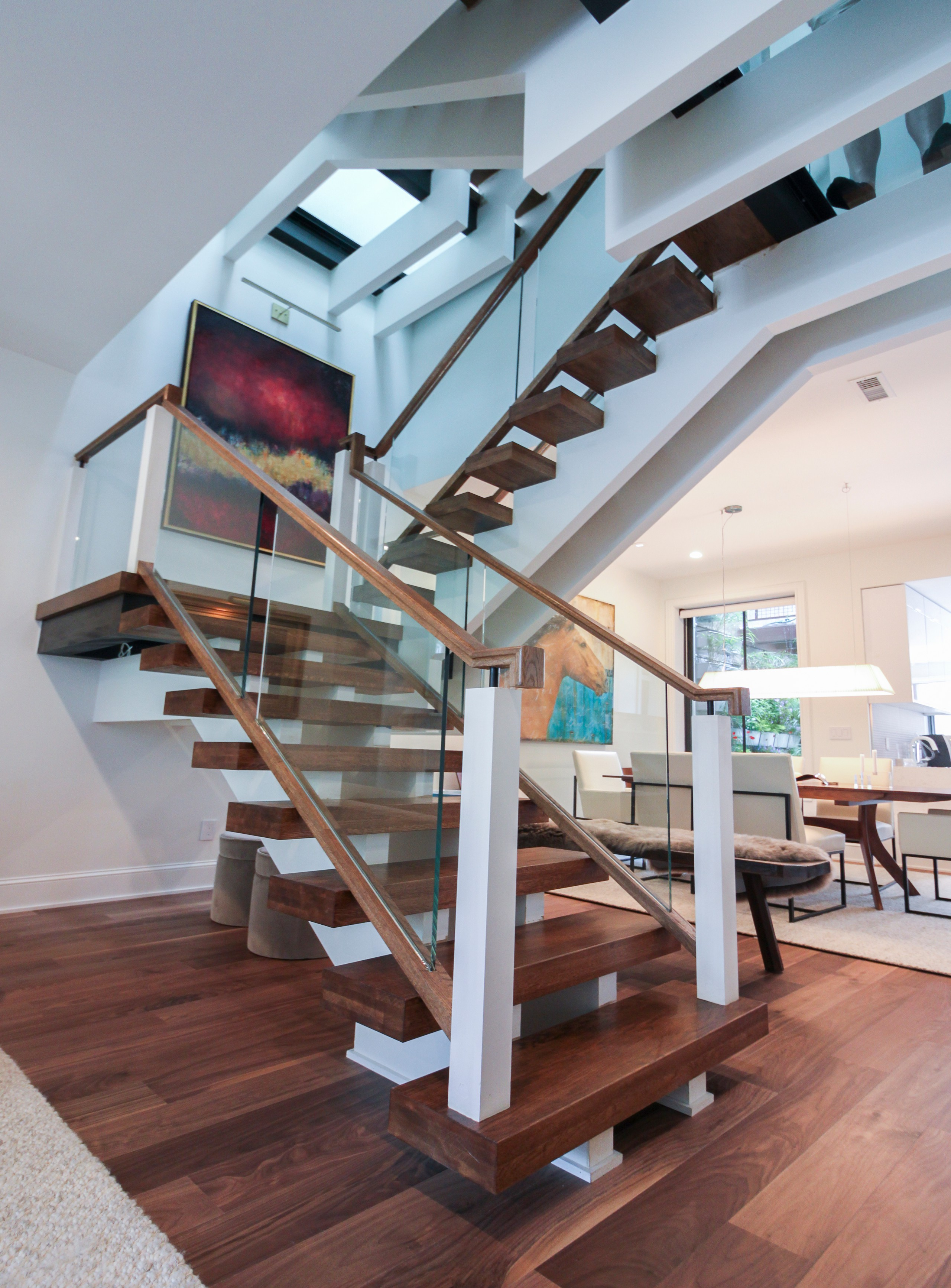 68_Innovative and Ultra-modern Stairs with Glass Landings, Washington DC 20009