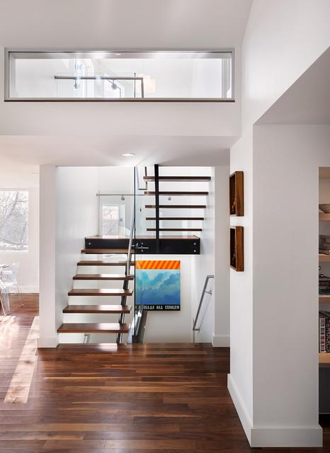 6th street residence contemporaneo scale denver di for Arredare pianerottolo scale