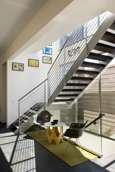 70's Renovation modern-staircase