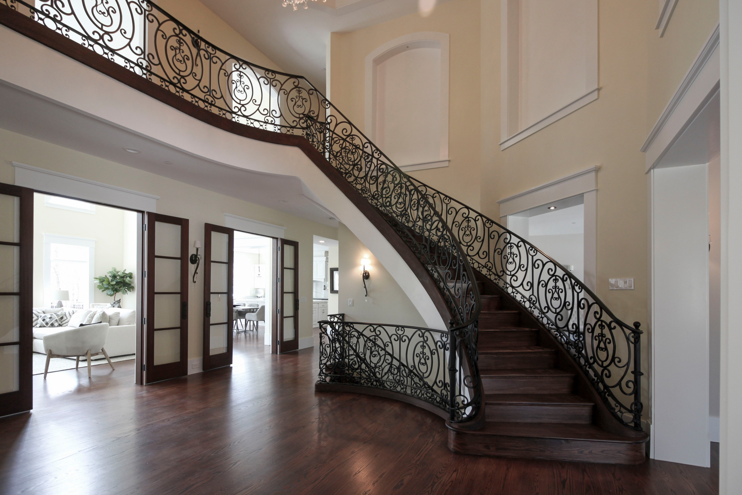 76_Striking Traditional Staircase in French Provincial Home, Potomac MD 20854