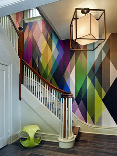 One Great Thing About Geometrical Shapes Is That They Allow You To Play With Color Another Trend In The Wall Patterns Complex Visual