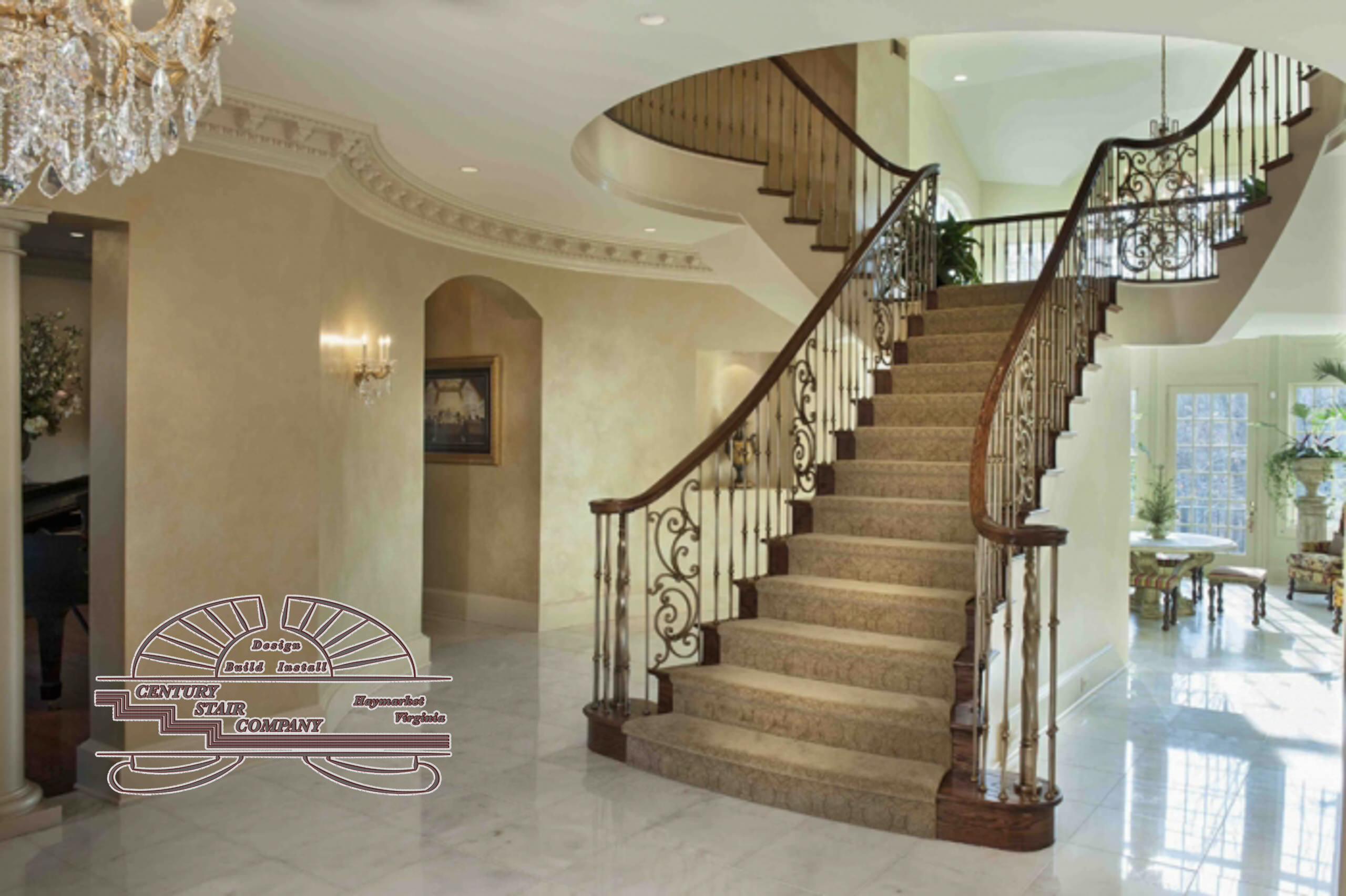 9_Grand Staircase in McLean Residence, McLean, VA 22101