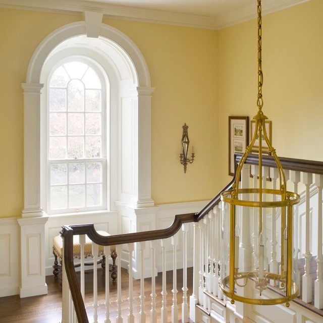 A Colonial Country House traditional-staircase
