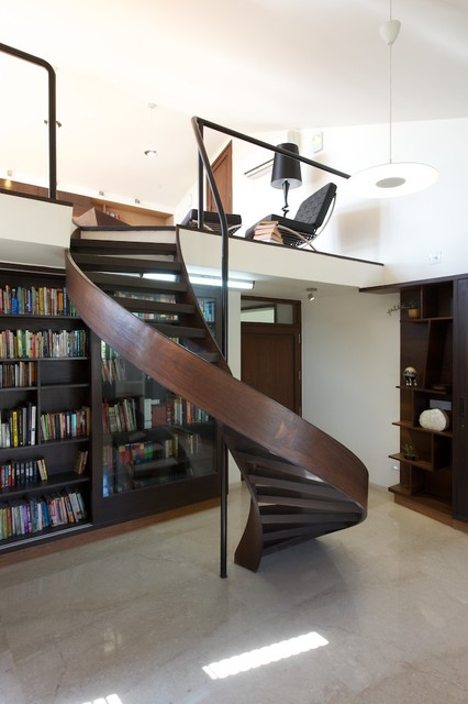 a fusion of classic and modern modern staircase