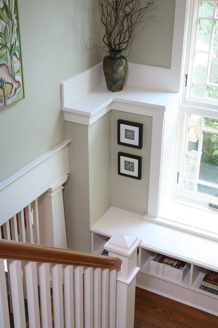 a house in a garden craftsman-staircase