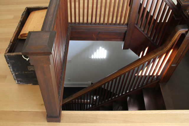 traditional staircase by Great Five Lakes