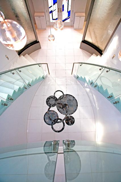 A Mediterranean Custom Home With a Modern Twist, by Mega Builders mediterranean-staircase