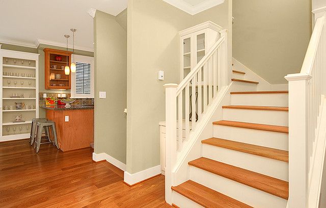 A Tranquil Queen Townhouse Transitional Staircase