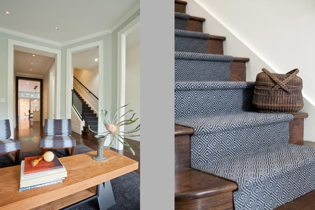 A Victorian's Marriage with Modern modern-staircase