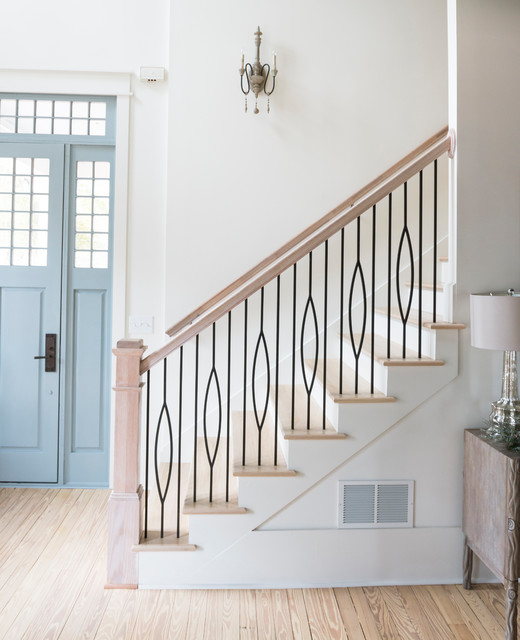 Aalto Collection   Marquis Iron Stair Balusters Modern Staircase