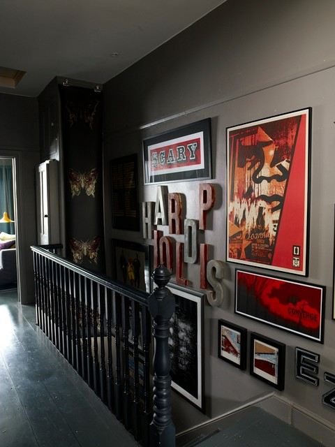 Abigail Ahern Interiors Eclectic Staircase London