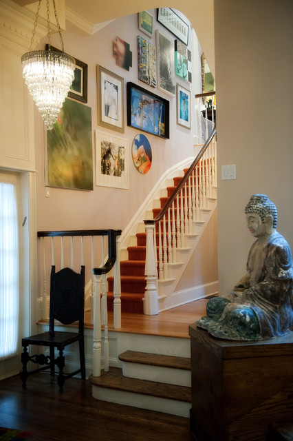 Addison Street Residence traditional-staircase