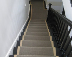 After: Burling Street Back Stairs transitional-staircase
