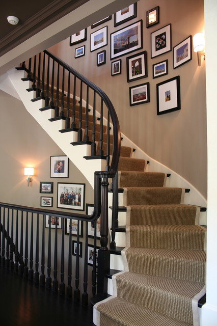 After: Burling Street Home transitional-staircase