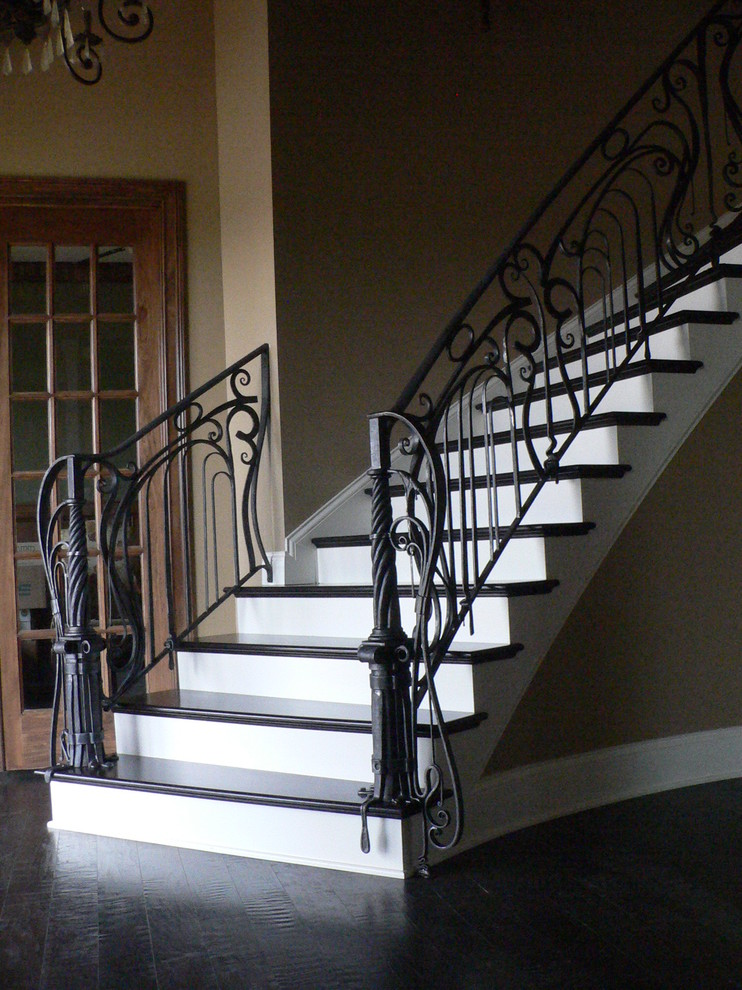 Inspiration for a large eclectic staircase remodel in Louisville