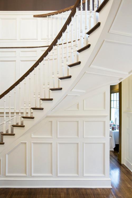 Captivating Donnau0027s Blog: Stairway Design: Wainscoting | Akke Woodworks
