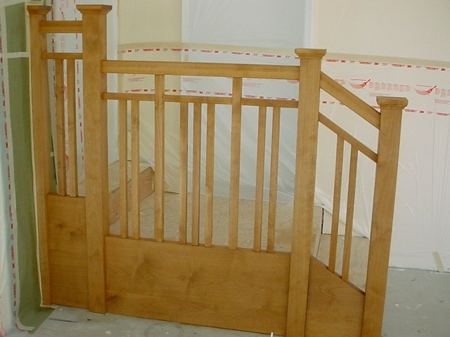 Alder craftsman stair rail traditional staircase san for Craftsman picture rail
