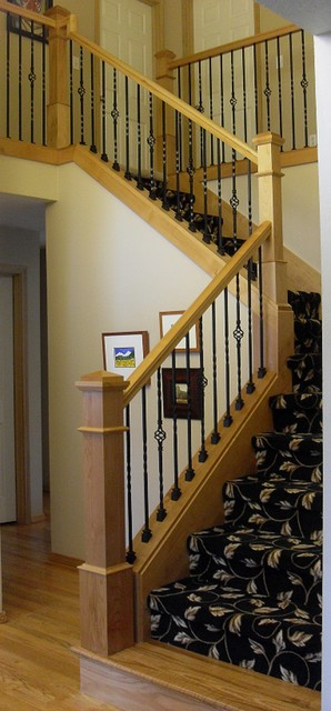 Alder Handrail U0026 Stair Posts Traditional Staircase