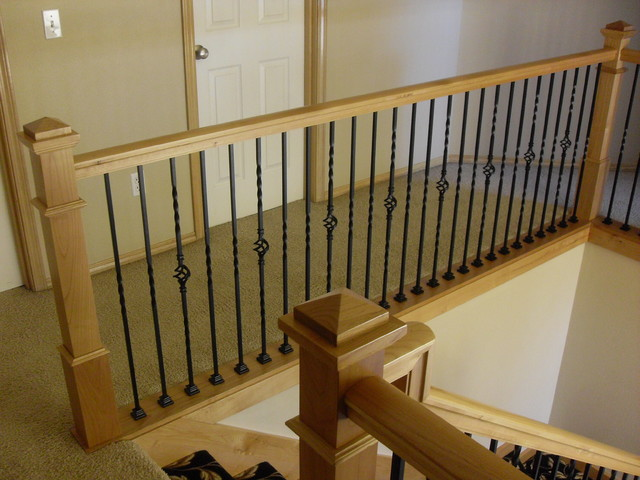 Attractive Alder Handrail U0026 Stair Posts Traditional Staircase