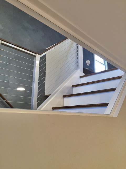 Alexandria VA Indoor Natural Aluminum Posts amp Top Rail