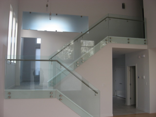 All glass railings