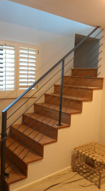 Alternative Cable Railing Contemporary Staircase