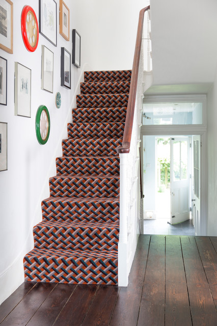 Alternative Flooring   Quirky B Lattice Leoni Stair Carpet Transitional  Staircase