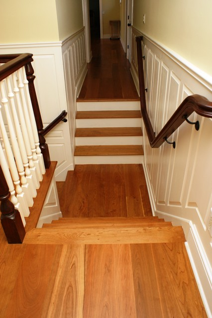 American Cherry Wood Floors Traditional Staircase Boston By Hull Forest Products
