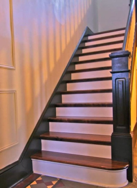 Americana Inn Historic Staircase Restoration Rustic