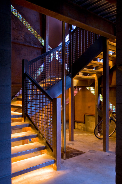 Anderson Pavilion industrial-staircase