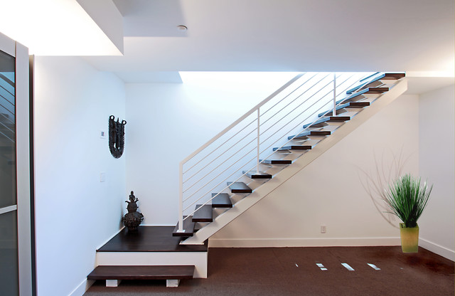 Inspiration For A Transitional Wooden L Shaped Open Staircase Remodel In DC  Metro