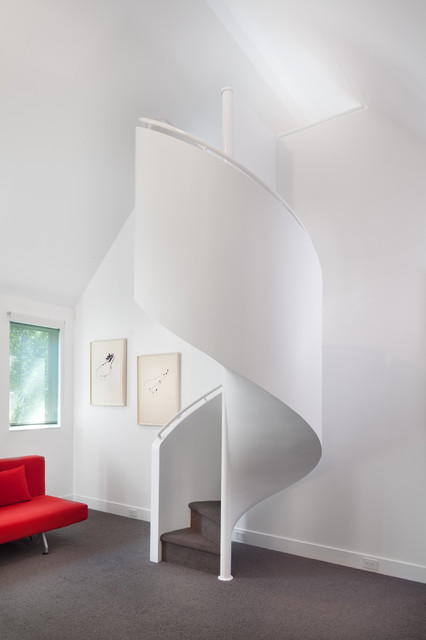 """Anthony Wilder Design/Build, Inc. creates a """"House of Light."""" transitional-staircase"""