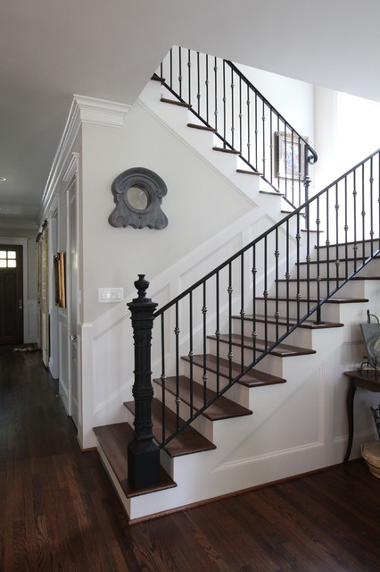 Antque Newel Post Traditional Staircase Houston By
