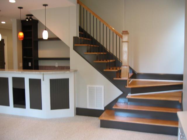 Arlington Basement Renovation staircase
