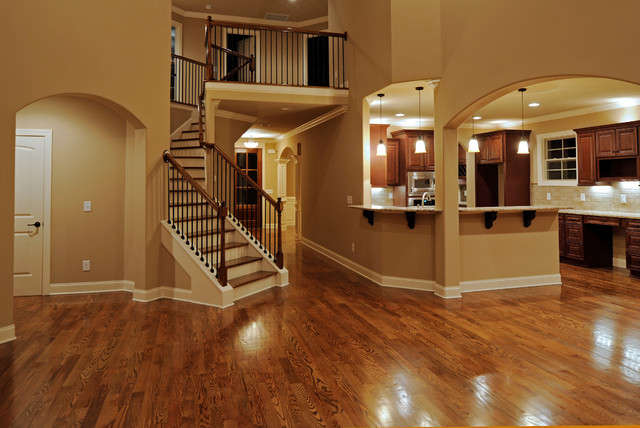 Arnold Homes Customs traditional-staircase