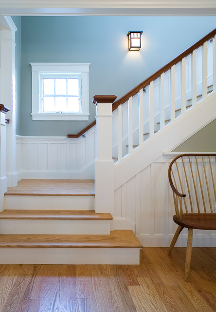 Arts amp Crafts Bungalow Craftsman Staircase Boston