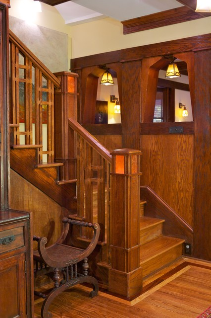 Arts Crafts Traditional Staircase Atlanta By