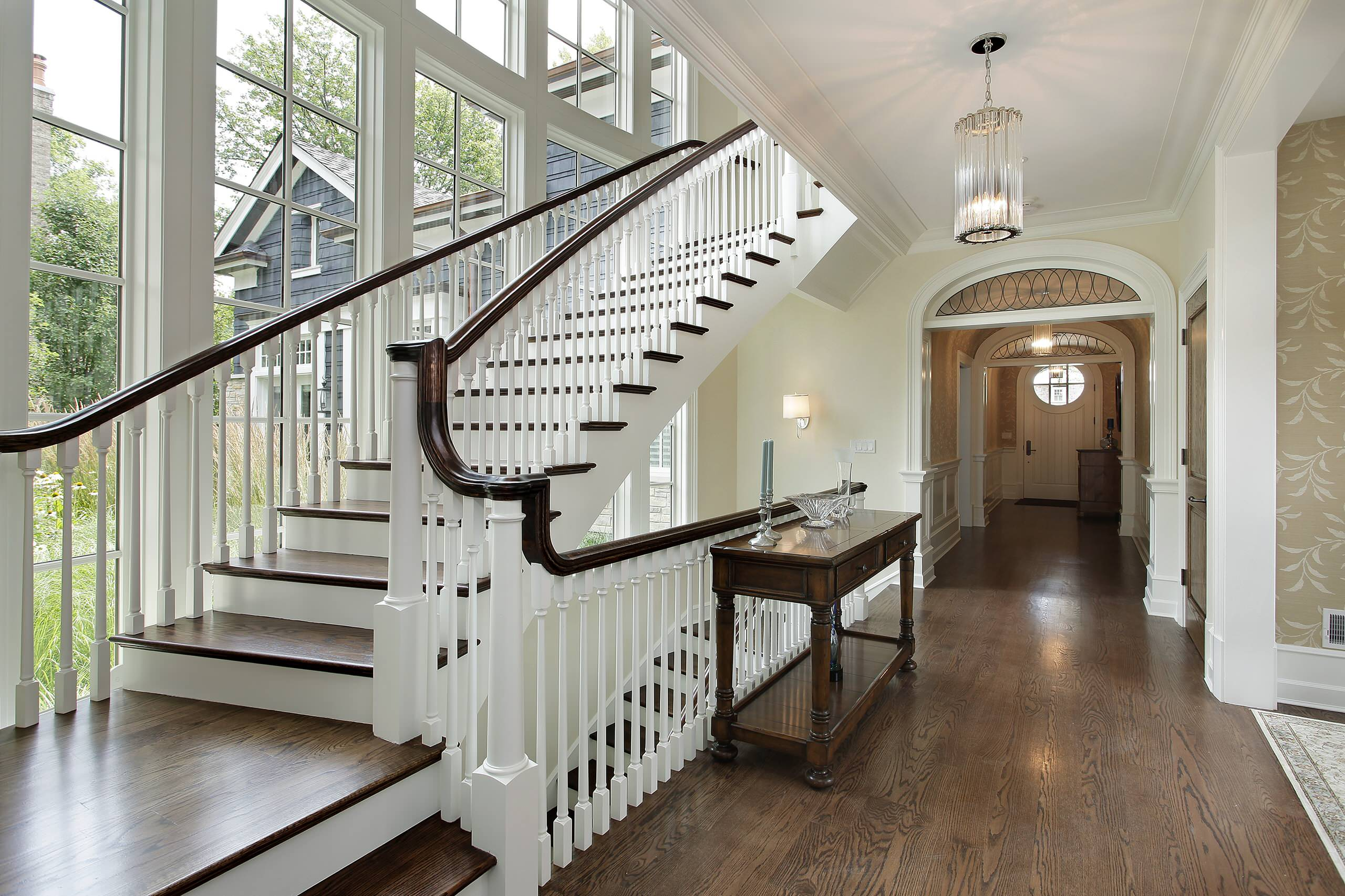 Ash Nantucket Staircase Traditional Chicago By Highgate Builders Houzz
