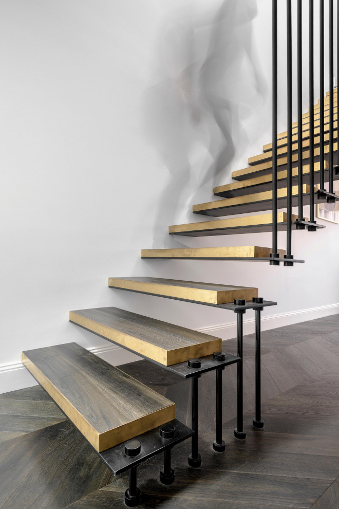 Contemporary staircase in Sydney.