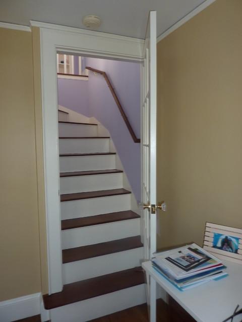 small attic bedroom decorating ideas - Attic Conversion Traditional Staircase Boston by
