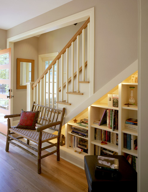 Attic Conversion to Bedroom - Traditional - Staircase - austin - by CG&S Design-Build