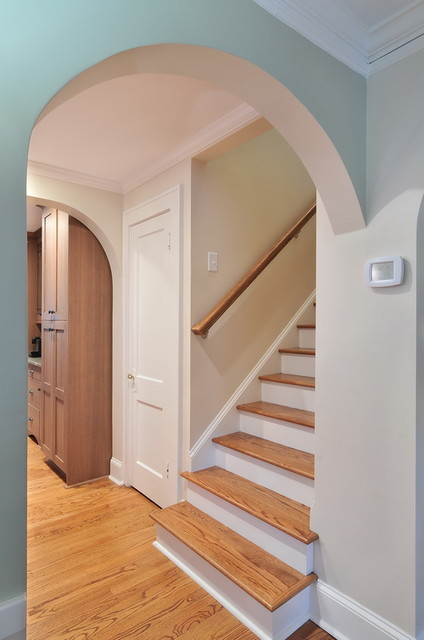 Attic Master Renovation traditional-staircase